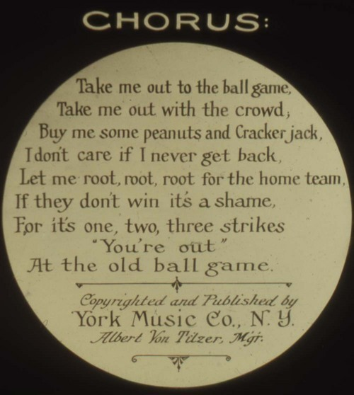 Take Me Out To The Ball Game song slide - Page
