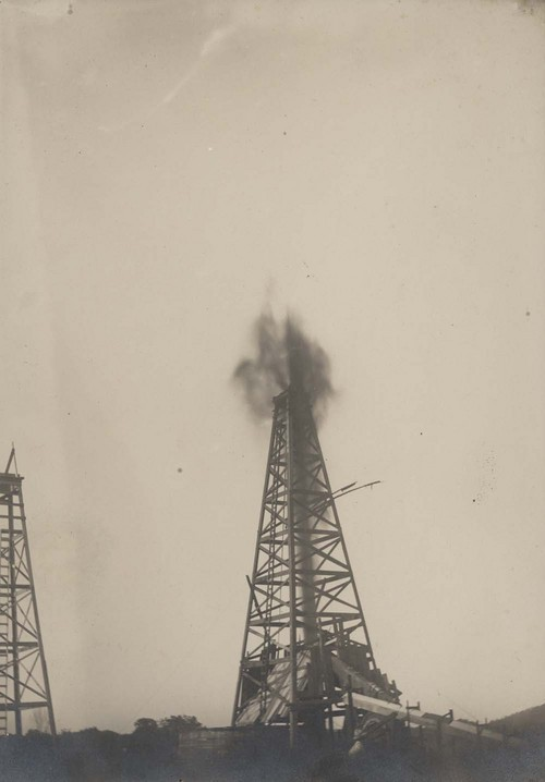 Oil derricks, Peru, Kansas - Page