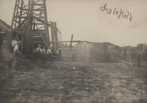 Oil derrick, Peru, Kansas - Page