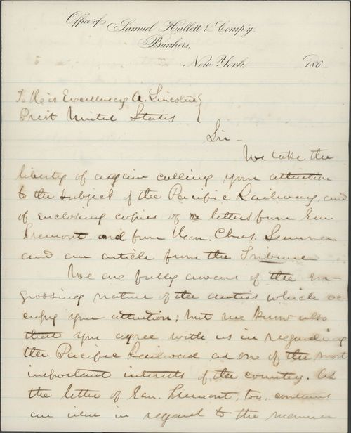 Samuel Hallett to Abraham Lincoln, President of the United States - Page