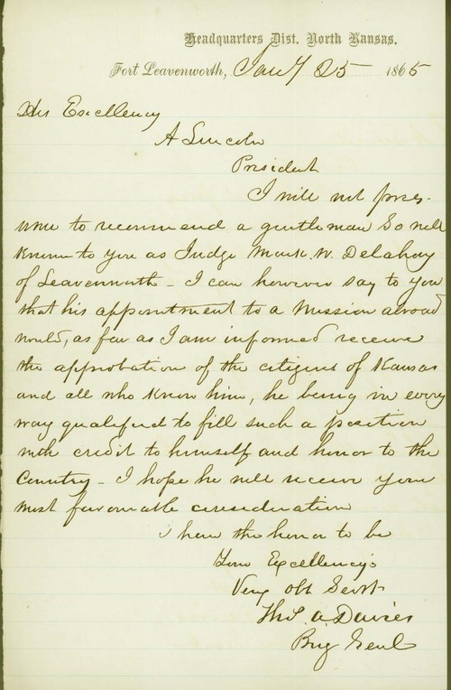 Thomas Alfred Davies to Abraham Lincoln - Page