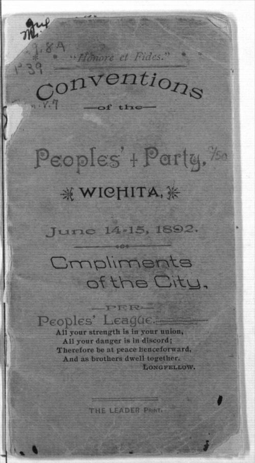 Conventions of the Peoples' Party, Wichita, Kansas - Page