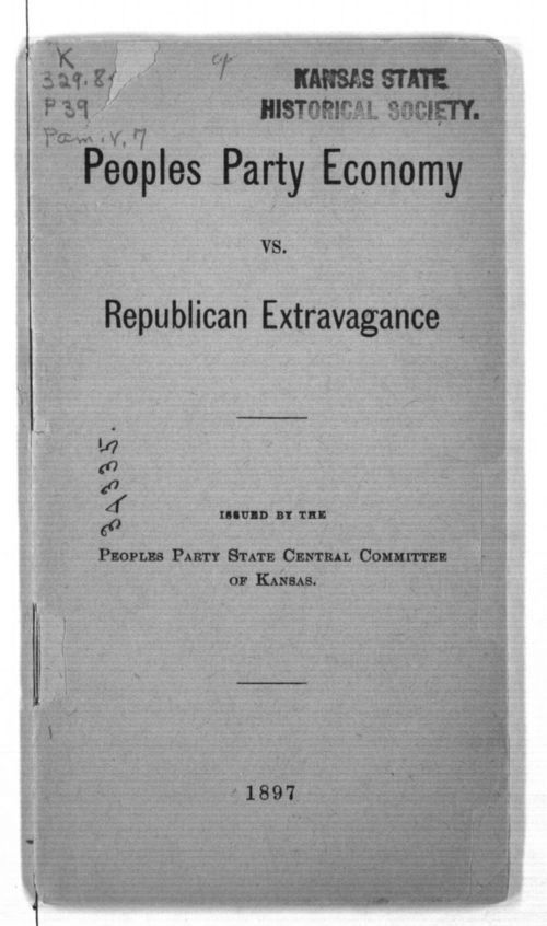 Peoples Party economy vs. Republican extravagance - Page