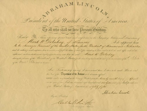Mark W. Delahay certificate of appointment - Page