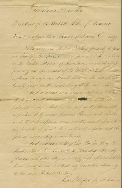 Robert B. Nay certificate of pardon - Page