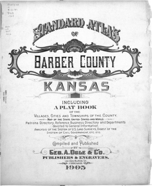 Standard atlas of Barber County, Kansas - Page