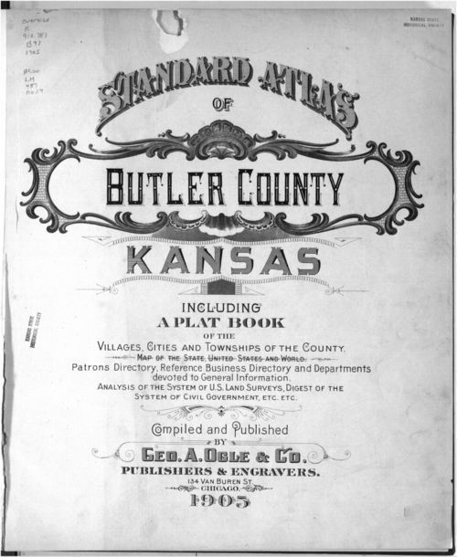 Standard atlas of Butler County, Kansas - Page