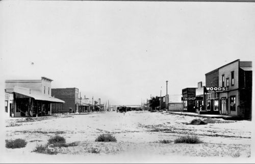Street scene, Elkhart, Kansas - Page