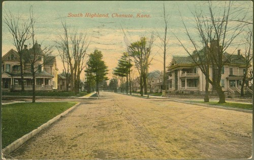South Highland Avenue near the corner of Ninth Street, Chanute, Kansas - Page