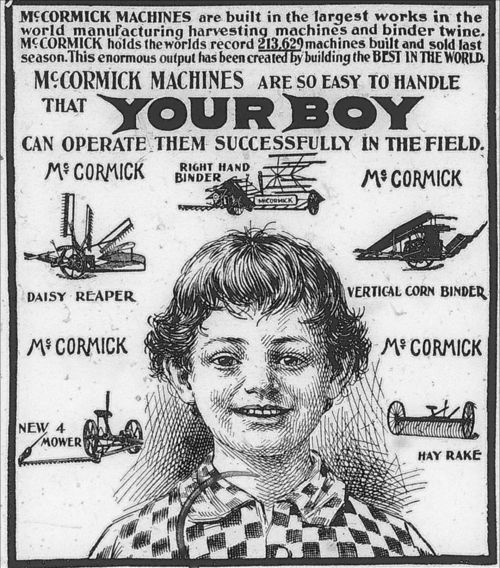McCormick agricultural machines advertisement - Page