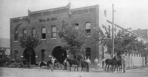 Hotel De Hoss livery stable, Independence, Kansas - Page
