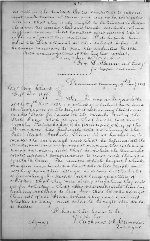 Richard W. Cummins to William Clark - Page