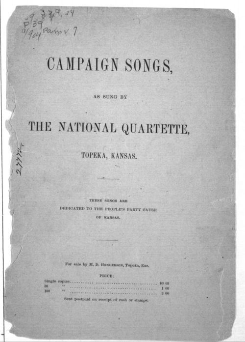 Campaign songs, as sung by the National Quartette - Page