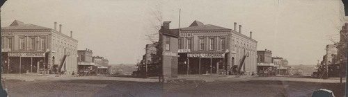 Corner of Main Street and Wall Street, Fort Scott, Kansas - Page