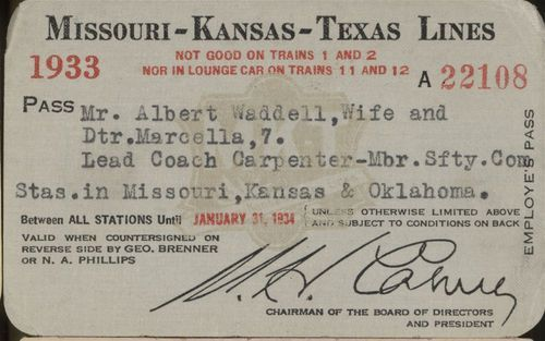 Missouri- Kansas -Texas Railroad passes - Page