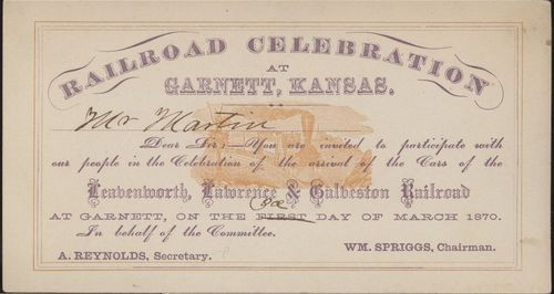Leavenworth, Lawrence, & Galveston Railroad passes - Page