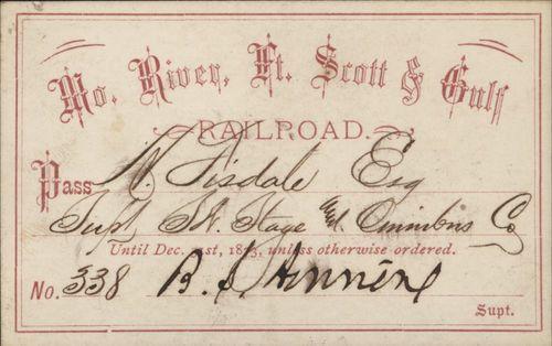 Missouri River, Ft. Scott & Gulf Railroad passes - Page