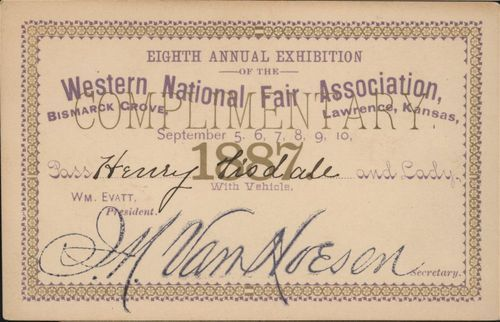 Railroad passes from Western National Fair - Page