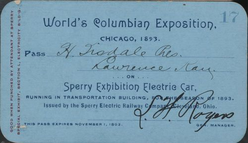 World's Columbian Exposition pass - Page