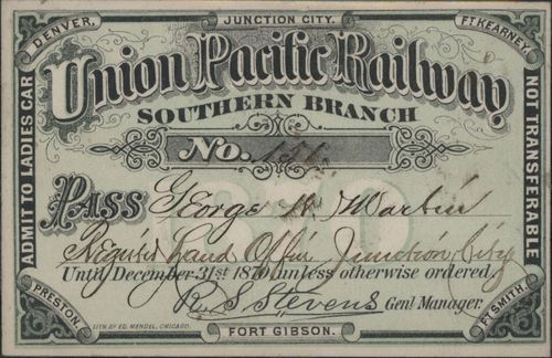 Railroad passes to various stations - Page