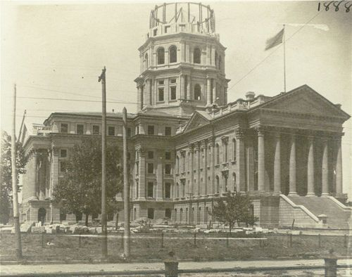Kansas Statehouse under construction, Topeka, Kansas - Page