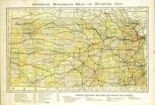 Official railroad map of Kansas 1899 - Page