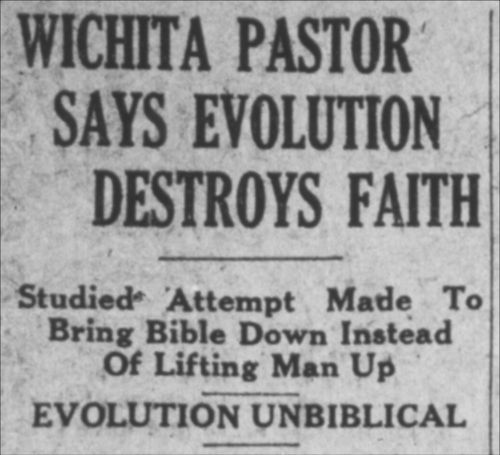 Wichita pastor says evolution destroys faith! - Page