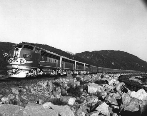 Atchison, Topeka & Santa Fe Railway Company's Super Chief, Cajon Pass, California - Page