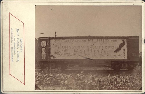 Johnstown sufferers supply train - Page