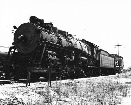 Atchison, Topeka and Santa Fe Railway Company's steam engine #3849. - Page