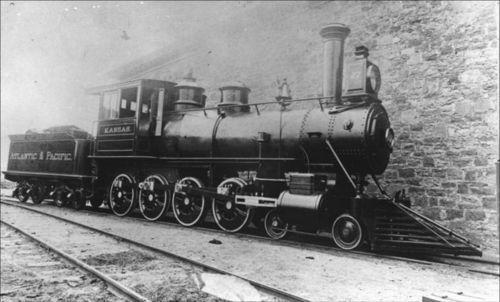 """The Kansas"" steam-powered locomotive engine - Page"