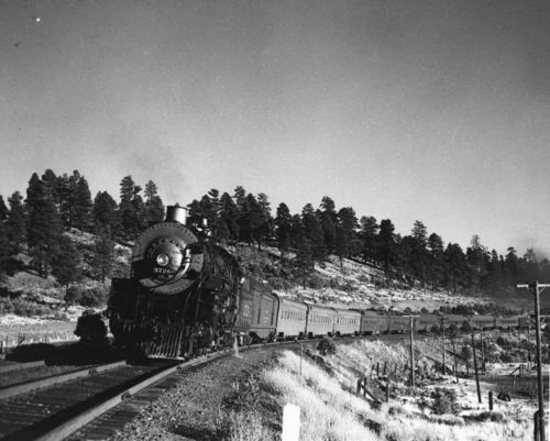 Steam-powered locomotive engine in northern Arizona - Page