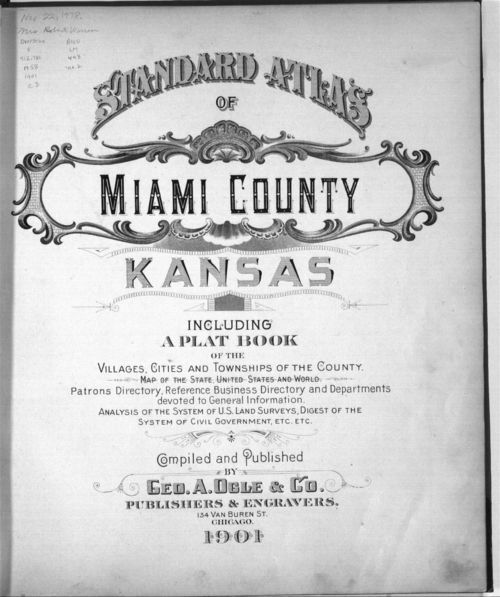 Standard atlas, Miami County, Kansas - Page