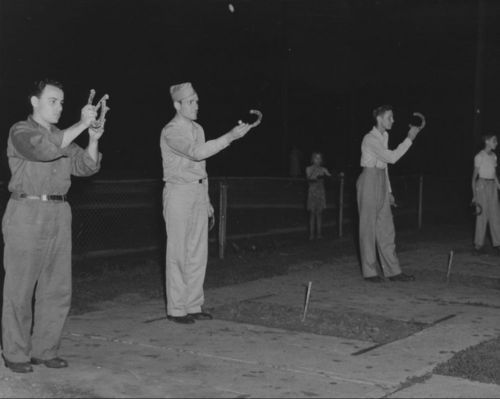 Playing horseshoes, Lawrence, Kansas - Page