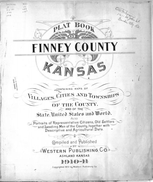 Plat book of Finney County, Kansas - Page