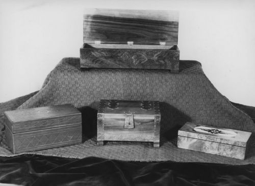 Wooden and metal boxes exhibit - Page