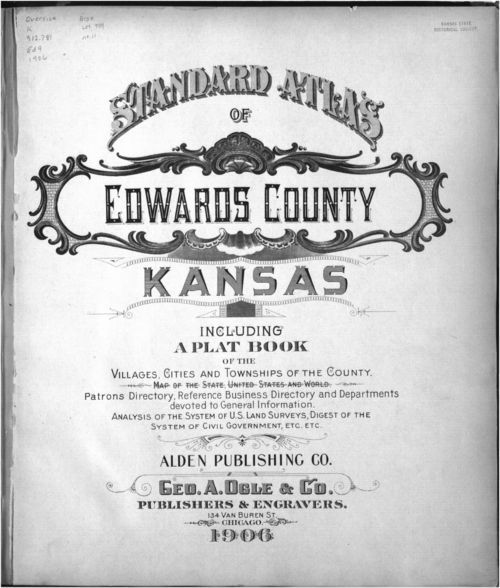 Standard atlas of Edwards County - Page