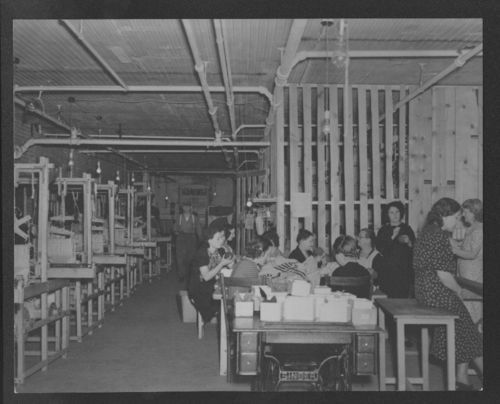 Women winding yarn, Topeka, Kansas - Page