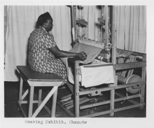 Weaving demonstration, Chanute, Kansas - Page