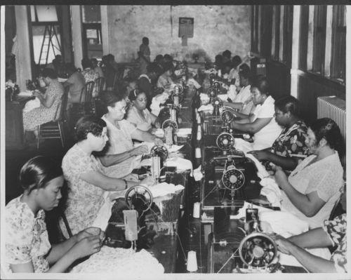 Sewing room, Kansas City, Kansas - Page