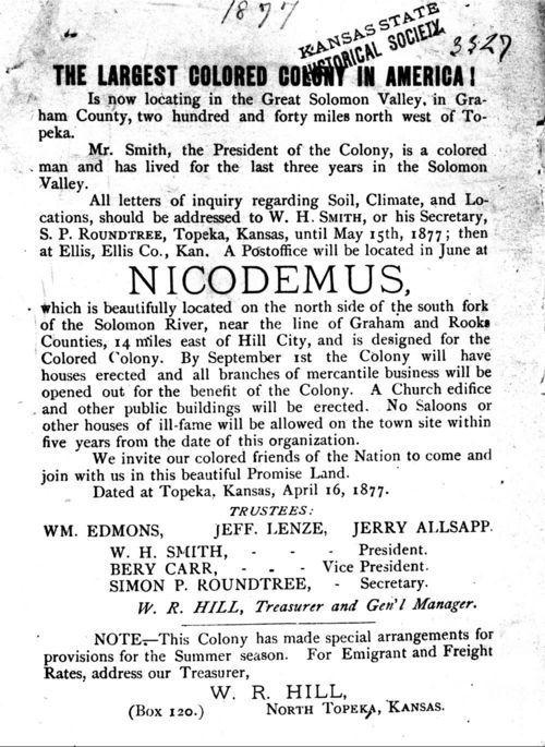 Advertisement for Nicodemus, Kansas - Page