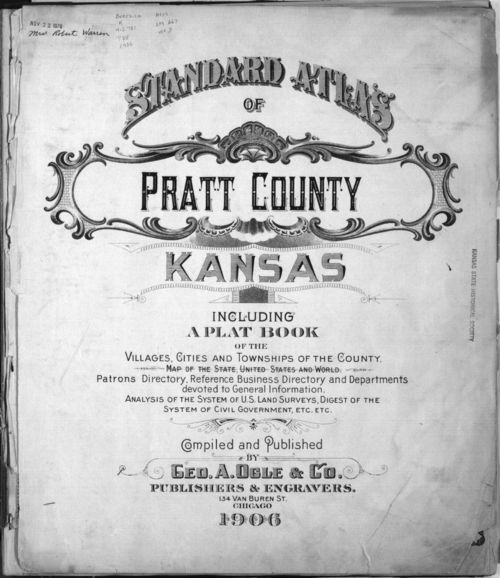 Standard atlas of Pratt County, Kansas - Page
