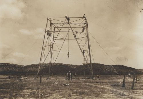 Building John R. Brinkley's radio tower, Villa Acuna, Mexico - Page