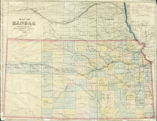 Map of Kansas, 1869 - Page