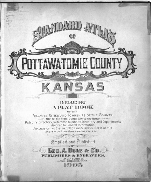 Standard atlas of Pottawatomie County, Kansas - Page