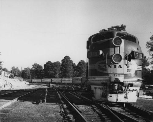 Atchison, Topeka & Santa Fe Railway Company's excursion train, Grand Canyon, Arizona - Page