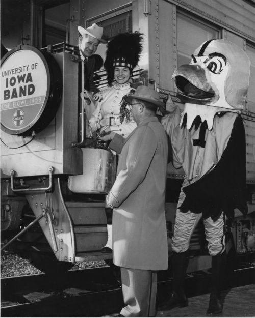 "University of Iowa mascot ""Herky"" the hawk - Page"