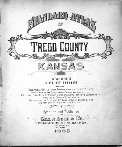 Standard atlas of Trego County, Kansas - Page