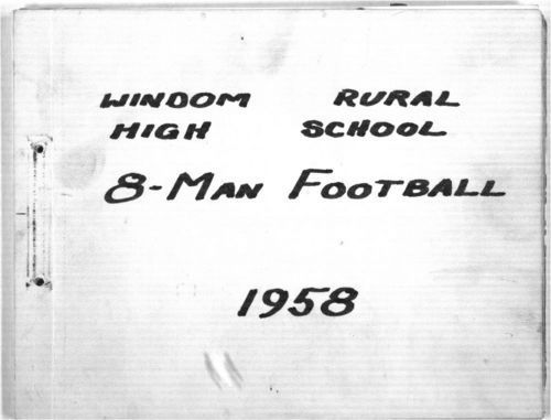 Windom Rural High School 8-man football statistical book - Page