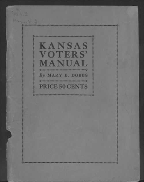 Kansas Voters' Manual (revised) - Page